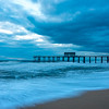 Predawn at Belmar Beach and Pier 3/4/18