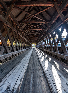 A View Through A Cover Bridge In Woodstock, VT 10/10/19