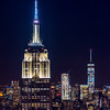 Empire State Building & Freedom Tower in New York City 1/15/17