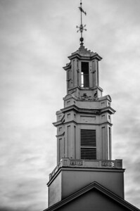 Andover Baptist Church spire, mono