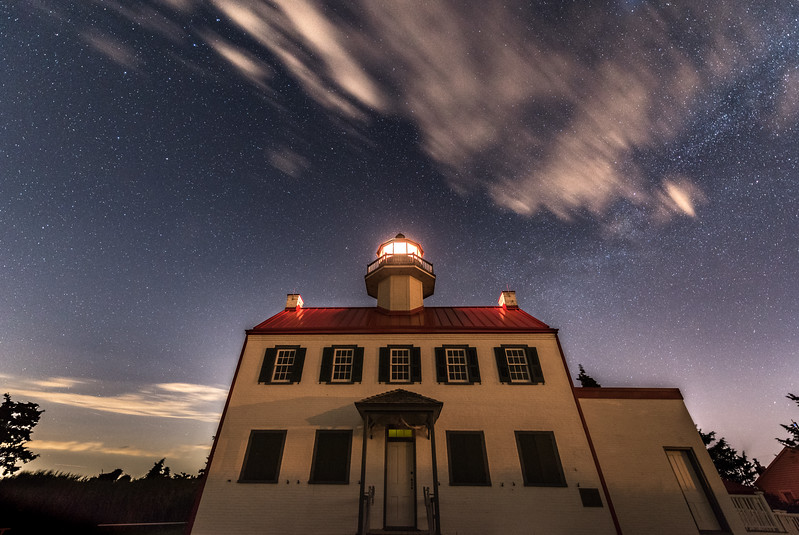 Starry Night Over East Point Lighthouse 6/26/17