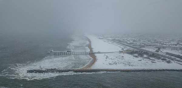 Snowy Scene Over Belmar Beach 3/13/18