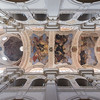 Painted ceiling at the St. Thomas' Church in Prague