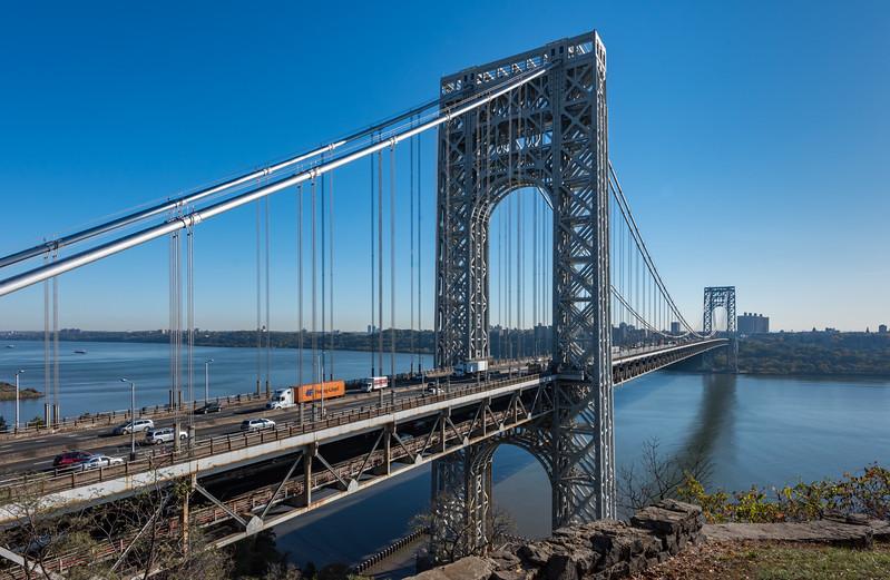 George Washington Bridge from Fort Lee, NJ 10/27/17