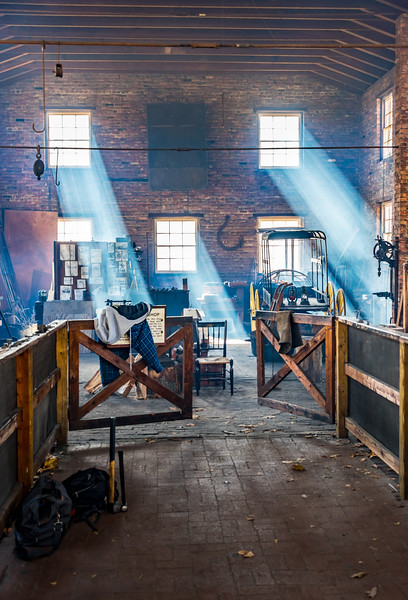 Blacksmith Shop at Allaire State Park 11/2/16