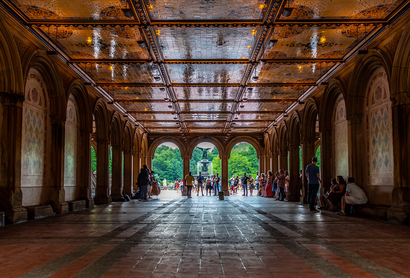 Bethesda Fountain and Terrace in Central Park, New York City 6/28/18