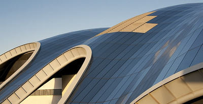 The beautiful roof of our local music venue - The Sage, Gateshead - taken as part of the curved line set.