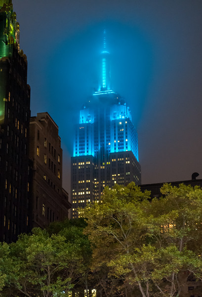 Fog Over Empire State Building, New York City, NY