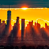 Sun Beams Shining Through The Skyscapers in Lower Manhattan 11/24/20