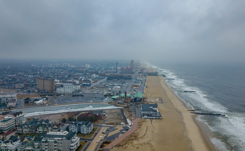Aerial View Looking North to Asbury Park 1/17/18