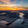 Fiery Sunset Over Shark River Inlet 2/18/18