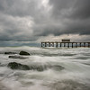 Stormy Skies Over Belmar Pier and Jetty Rocks 6/22/18