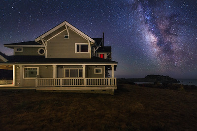 Coast House & Milky Way, Gualala, California