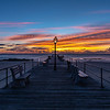 Colorful Sunrise Over Ocean Grove Pier 2/9/19