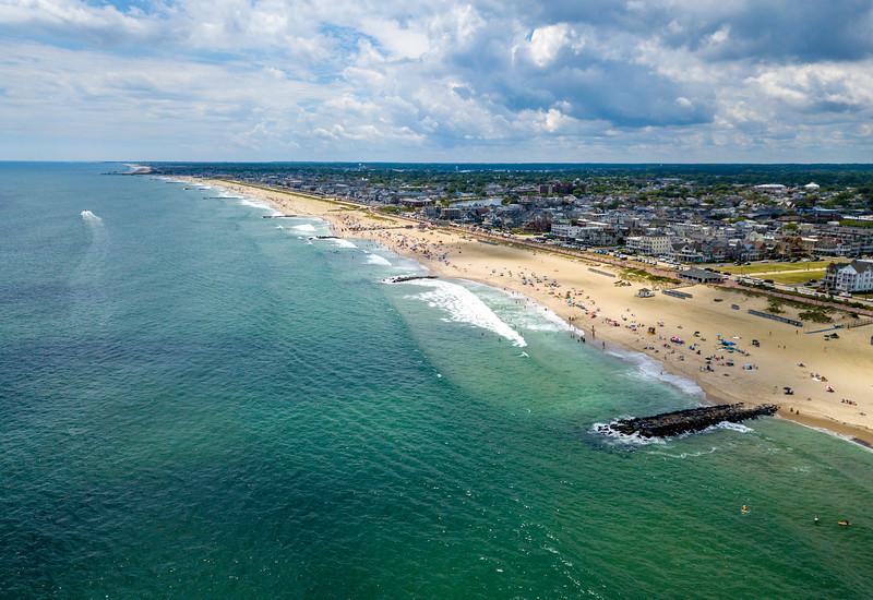 Aerial View Of Ocean Grove Beach 6/30/20