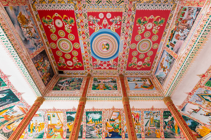 Ceiling at the Wat That Luang Tai Temple
