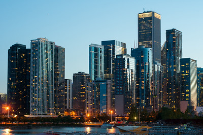 Chicago Lakefront at Night