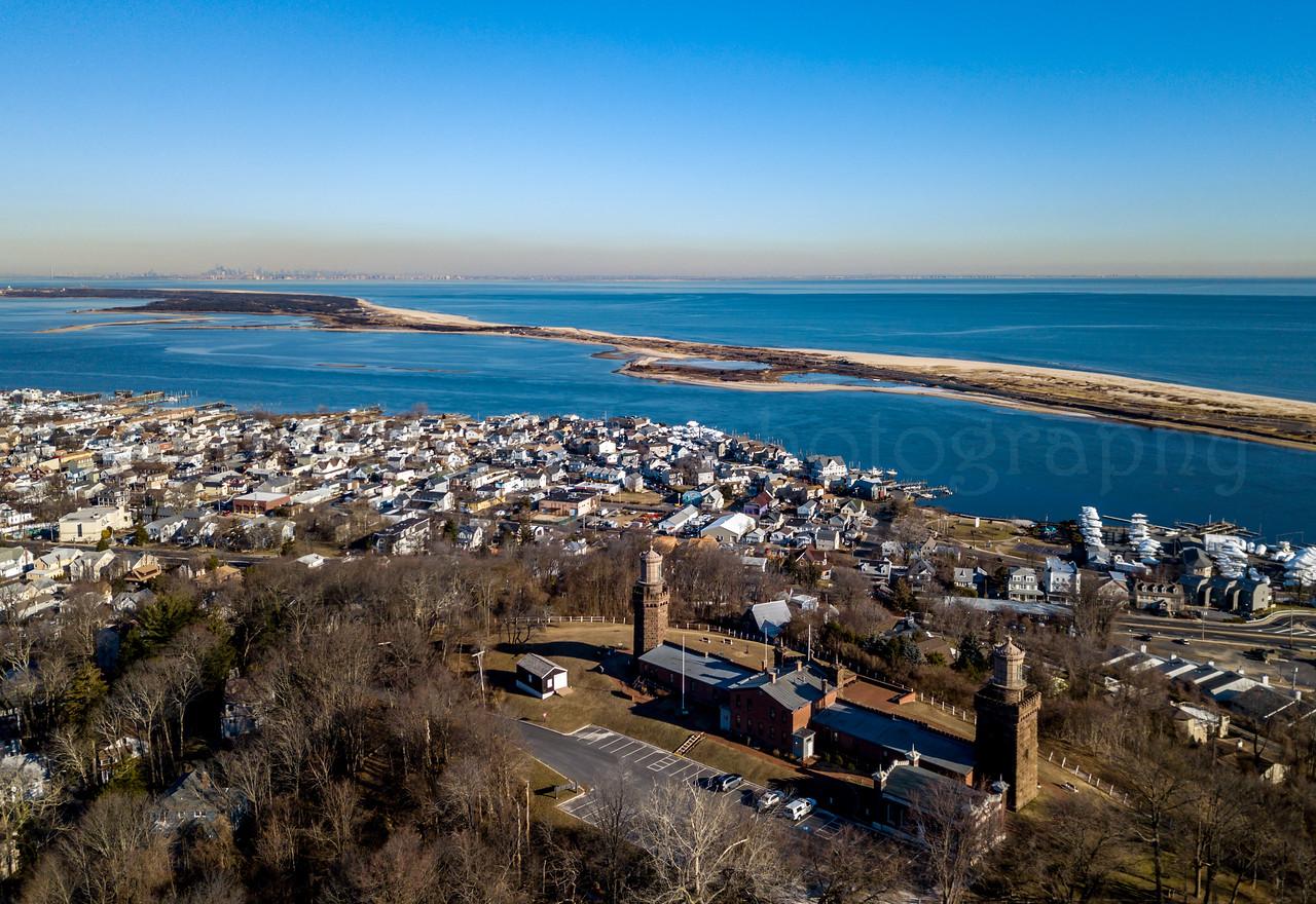 Twin Lights Lighthouse Overlooking Sandy Hook 1/26/18
