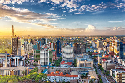 Nairobi Skyline at sunset