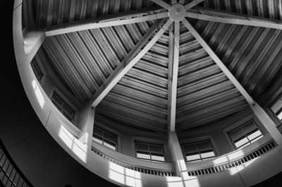 Koshland Center Rotunda ceiling