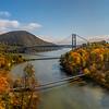 Bear Mountain Bridge Surrounded By Autumn Colors 10/22/20