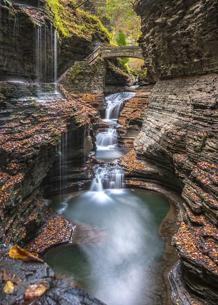 Rainbow Falls in Watkins Glen State Park, NY 10/16/17