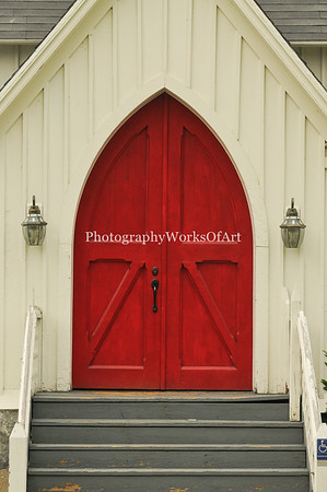 Church Doors in Lancaster New Hampshiree