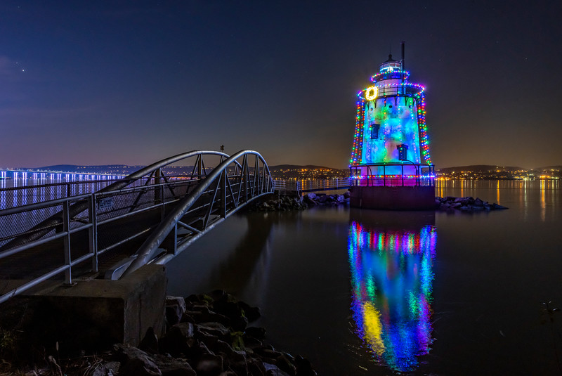 The Sleep Hollow Lighthouse Reflecting In The Hudson River 12/11/20