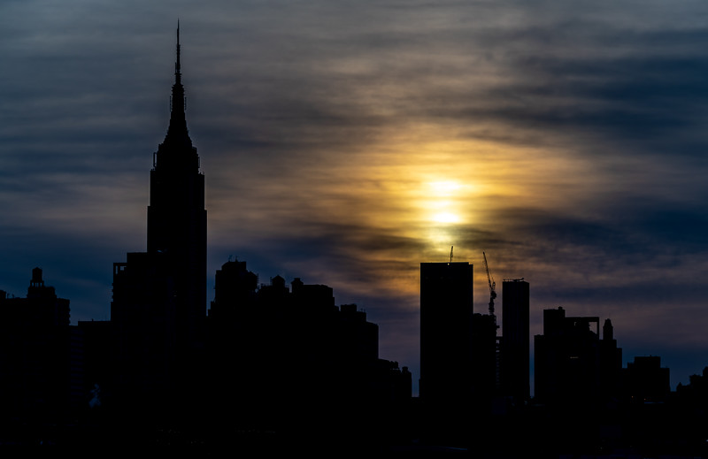 Cloudy Sunrise Over Empire State Building 2/23/19