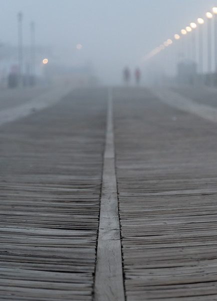 Foggy Morning Over Asbury Park Boardwalk 7/3/18
