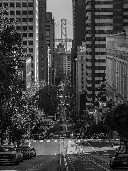 A Street View Of The Bay Bridge, San Francisco, CA 11/6/19