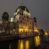 Illuminated Berliner Dom in Berlin at dusk