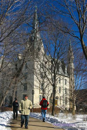 Northwestern's Snowy University Hall