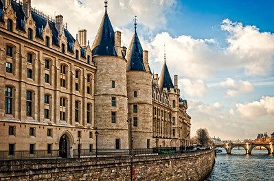 "La Conciergerie, The ""Antechamber to the Guillotine"", Paris, Franceand the Pont Neuf Bridge - Paris, France"