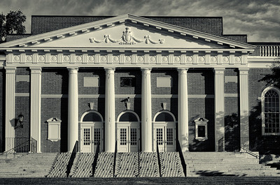 Andover Memorial Building, duotone