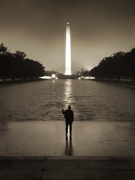 Peace at the Washington Monument and reflecting pool.