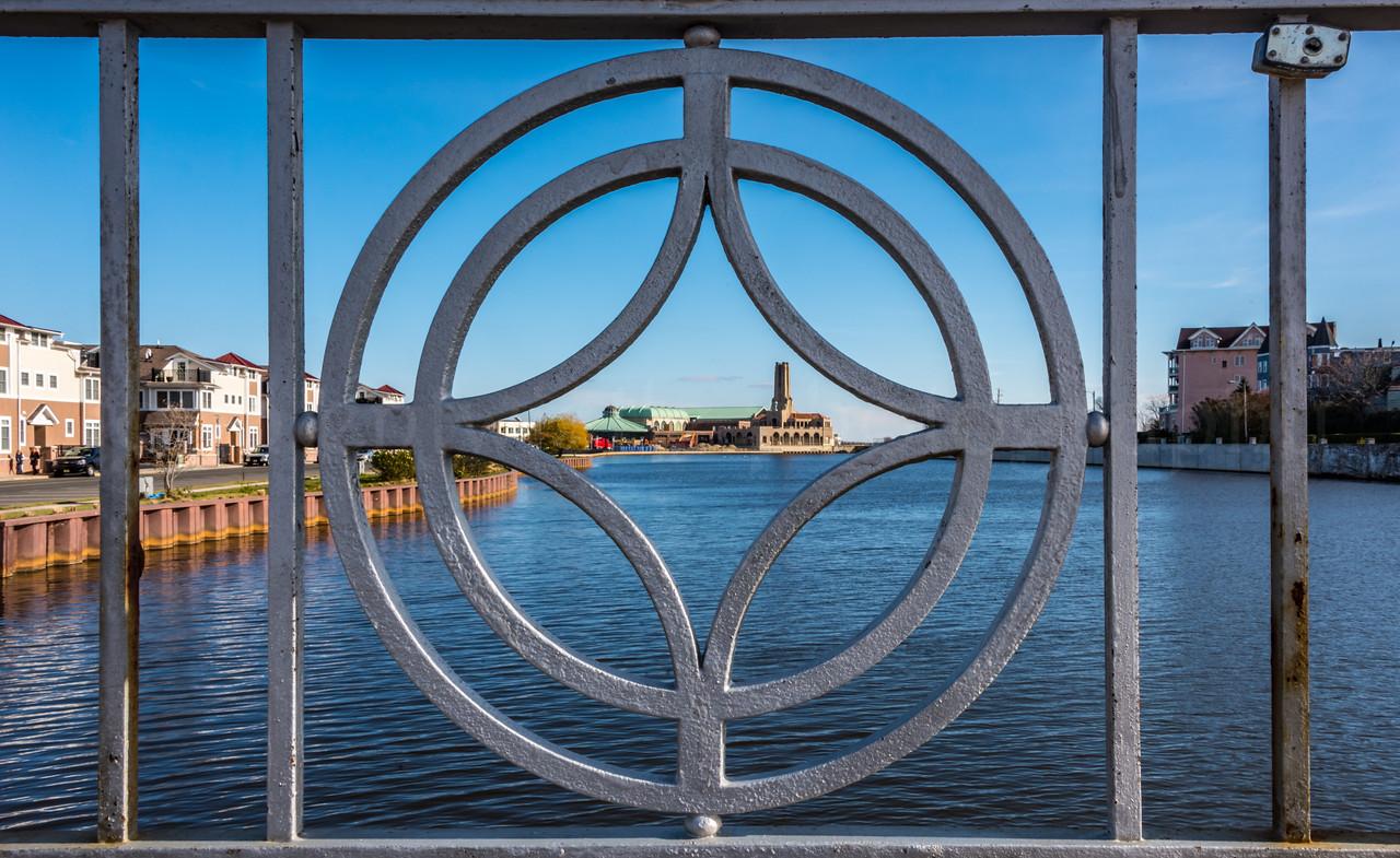 Asbury Park Through Wesley Lake Bridge Fence 12/4/16