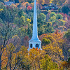 An Autumn Scene With Church In Vermont 10/13/21
