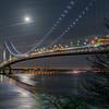 Moon Rise Over Verrazano Bridge 1/12/17