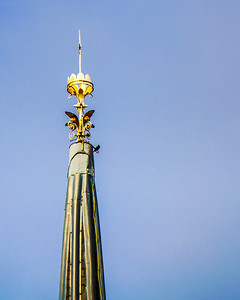 Church spire detail, Fitchburg
