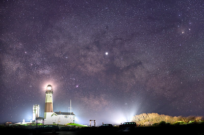 The Milky Way Galactic Core Rising Over The Montauk Lighthouse, Montauk, NY 5/7/19