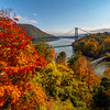 Bear Mountain Bridge Surrounded By Autumn Colors 10/22/20