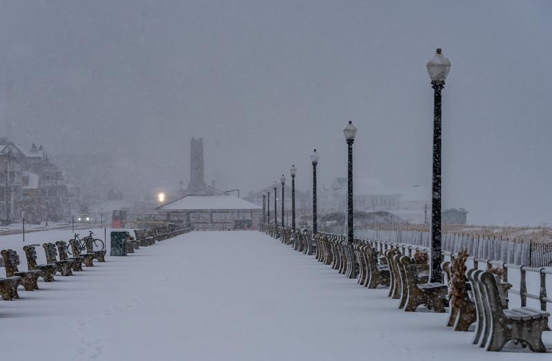 Snowy Scene on Ocean Grove Boardwalk 3/13/18