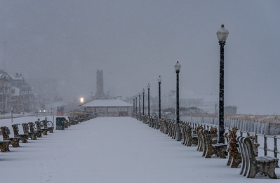 Snowy Scene on Ocean Grove Boardwalk 3/13/18