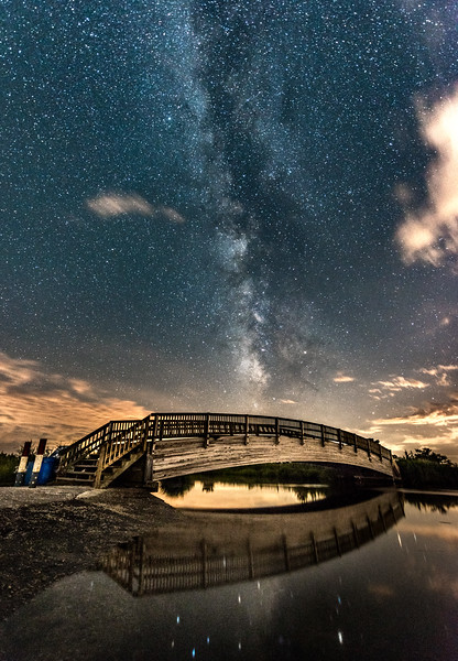 Milky Way Over Foot Bridge 6/26/17
