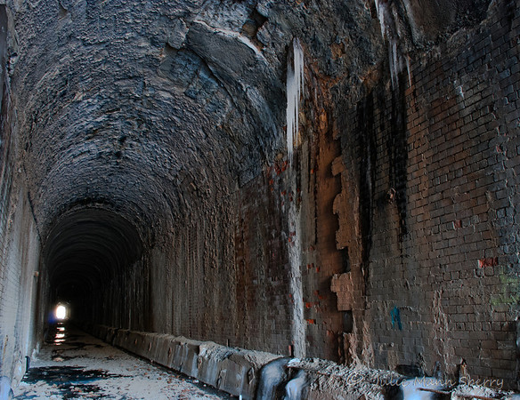 Tunnel Hill #5 - inside one entrance of the tunnel hill railroad tunnel (west end)