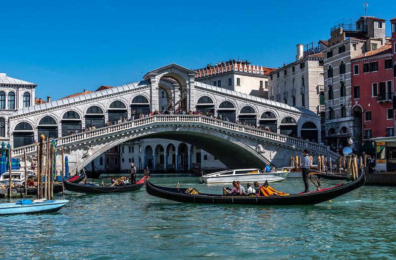 Rialto Bridge in Venice Italy 3/24/19