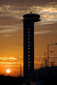 Bengaluru International Airport ATC at sunset