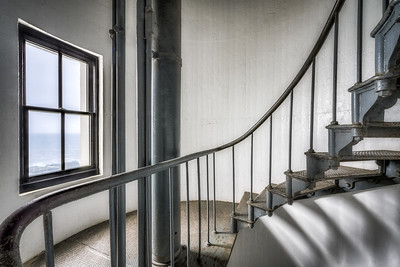 Lighthouse Stairs, Study 2, Point Arena Lighthouse