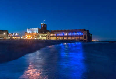 Asbury Park Convention Hall Reflecting in Ocean 3/31/18